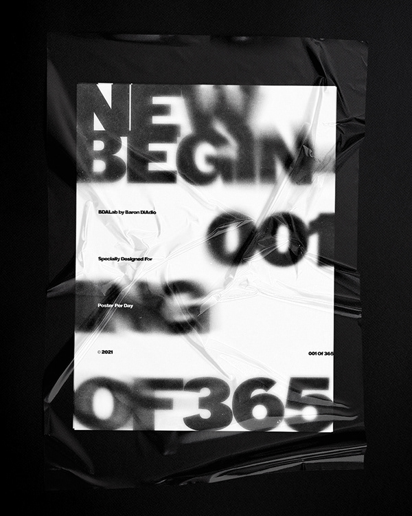 New Begining — 001 of 365 — Poster Per Day © 2021