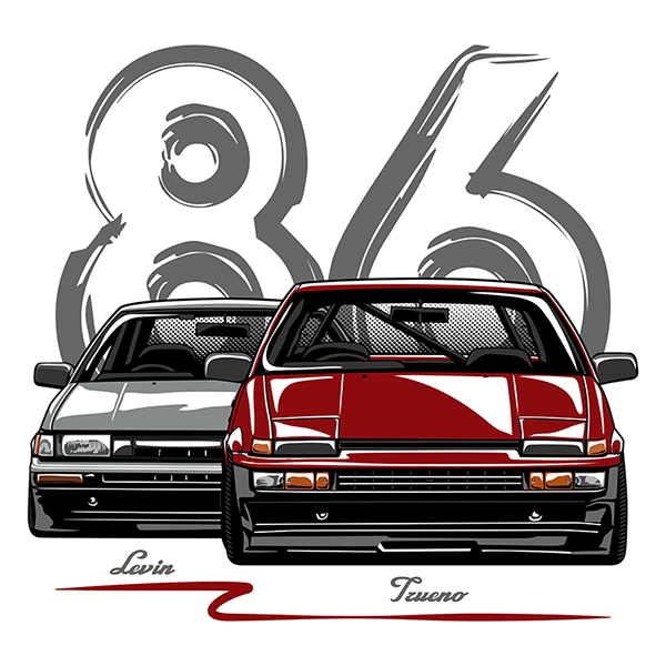 Toyota Ae86 Trueno Amp Levin On Behance