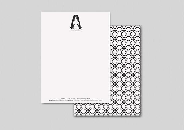 logo pattern visual identity Stationery monogram