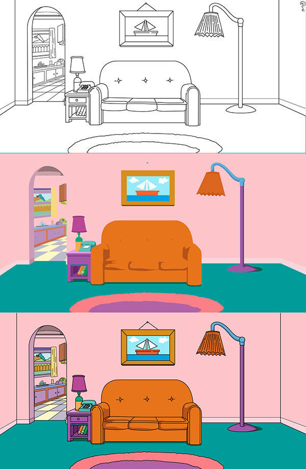 Simpsons Living Room on Behance