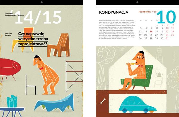 精細的36款月曆設計欣賞