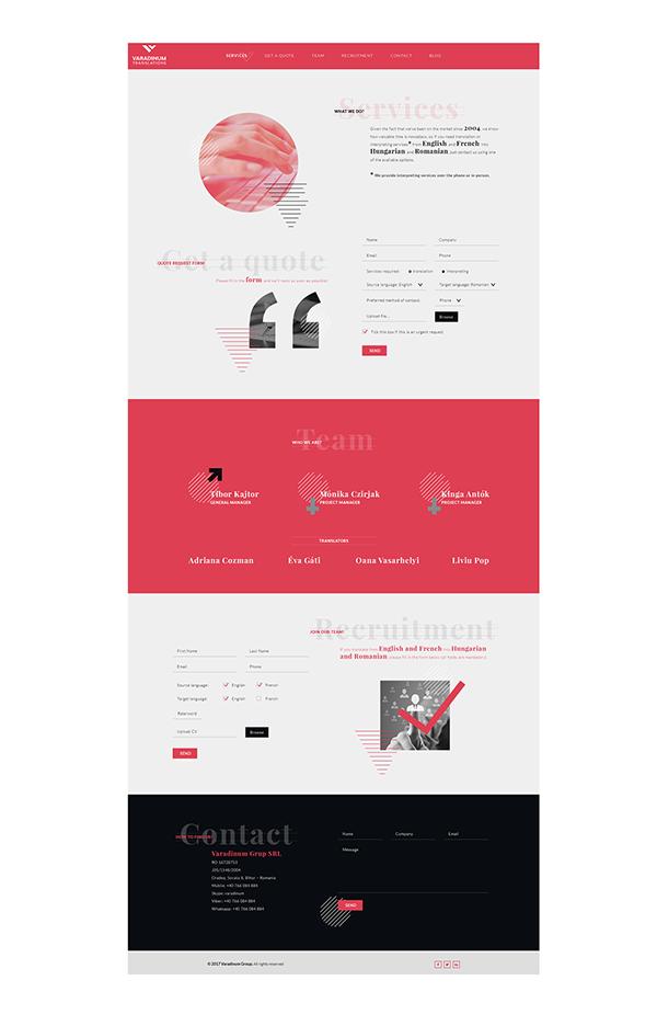 Varadinum Translations - Logo & Website Design