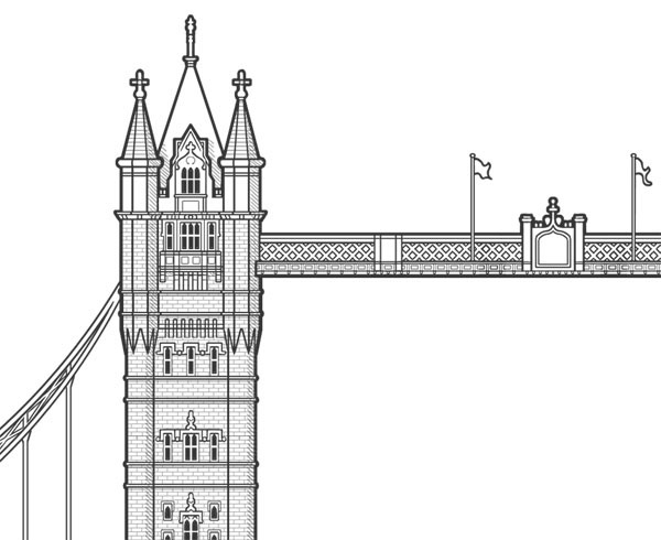 closer detail of tower bridge architectural drawings bridges l30 bridges