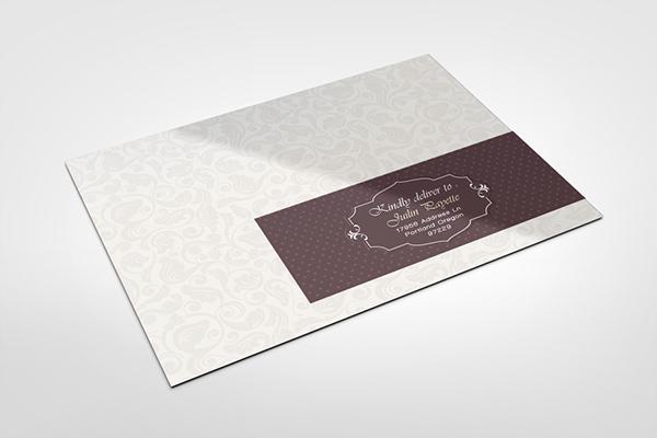envelope labels mock up on behance