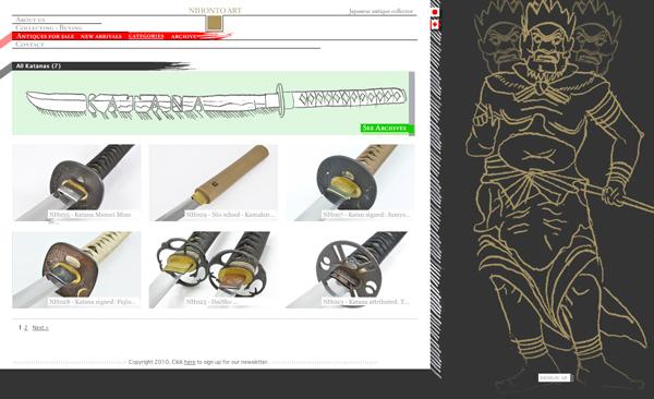 antique  Sword  web  montreal japan Canada
