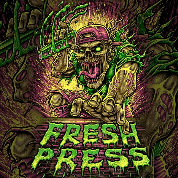 Zombie Printing design for FRESH PRESS Print