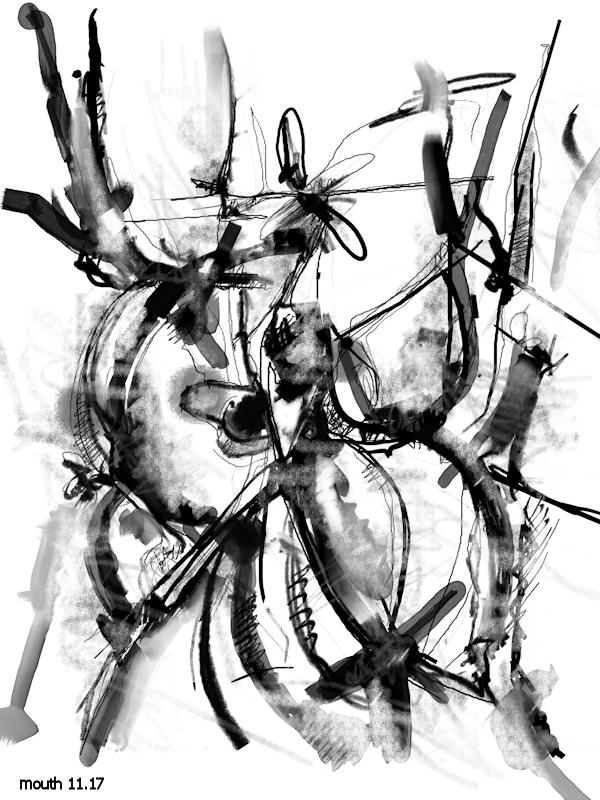 Adobe Portfolio White black Drawing  painting   Digital Art  Computer Art