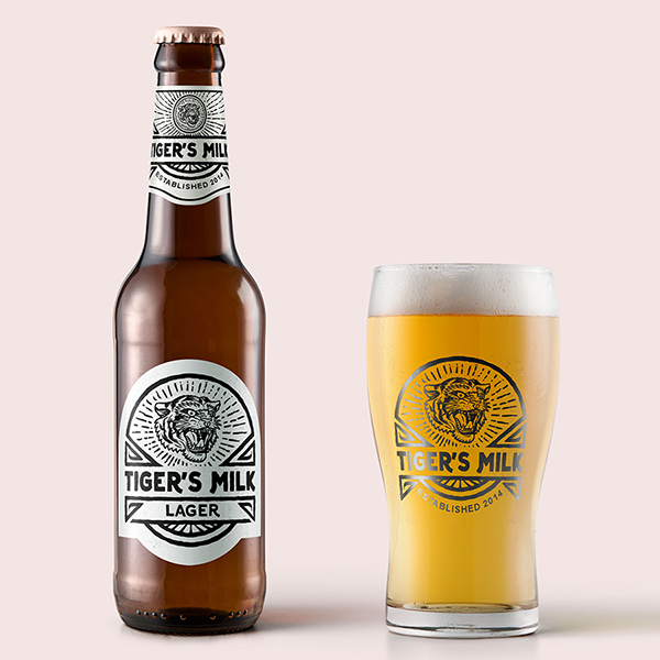 Tiger 39 s milk craft beer label on wacom gallery for Craft beer cycling jerseys