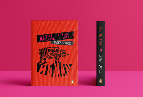 Animal Farm By George Orwell Book Cover Design On Behance