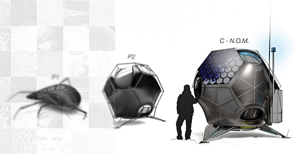 mobile compact extreme nomad small portable design Technology lightweight ecological Space  Nature materiology housing philosophy