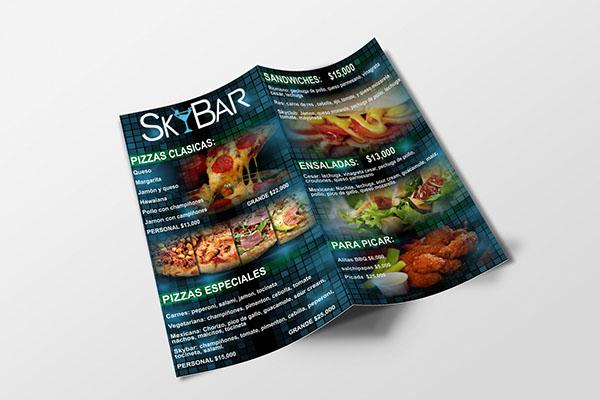 cartas restaurante comida Tarjetas imagen corporativa