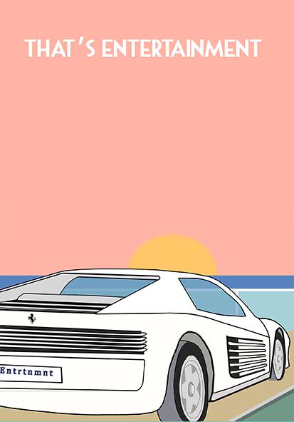 Ferrari Testarossa Poster On Behance