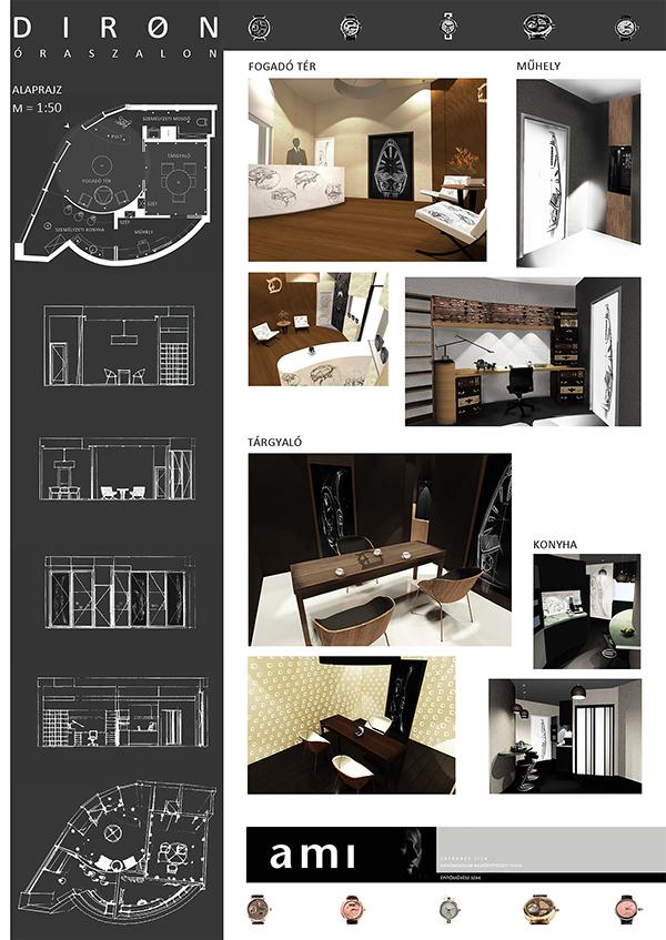 concept design Interior watch store