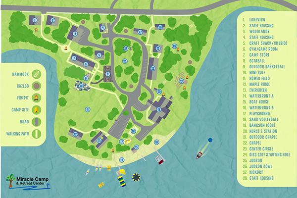 Camp Map Miracle Camp