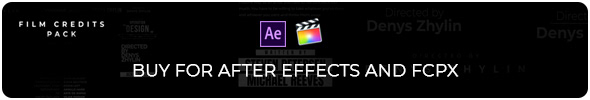 Film Credits Pack for Premiere Pro - 1
