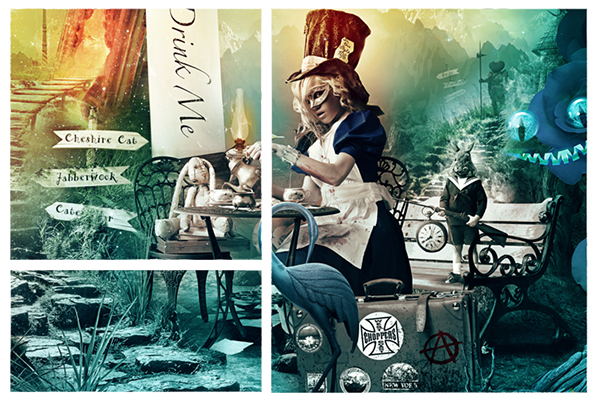 Fotolia Top Ten  Ten Collection alice  anarchy wonderland  Rusalkadesign The Lunatic Fringe Caterpillar  red queen Ten By Fotolia The Cheshire Cat  The Dodo The Bloodhound  The Jabberwock