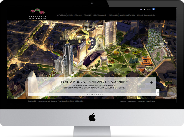 Residenze porta nuova website on pantone canvas gallery - Residenze di porta nuova ...