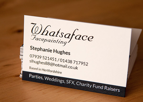 Whatsaface business cards on behance a business card design for a local facepainting business colourmoves