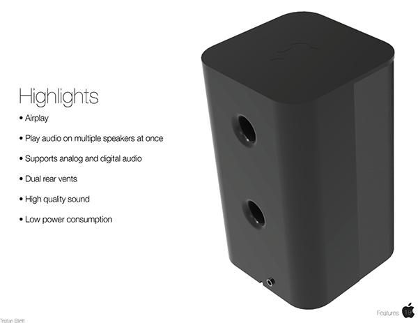 AirFi- Apple Airplay Speaker on MassArt Portfolios