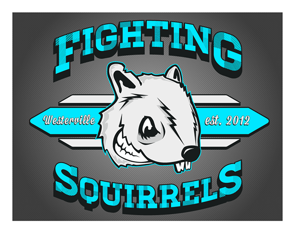 Fighting Squirrels Team Logo on Behance