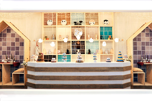 TEA ROOM INTERIOR DESIGN CONCEPT FOR DURSTONE AT CEVISAMA 2013 AMBIENTS