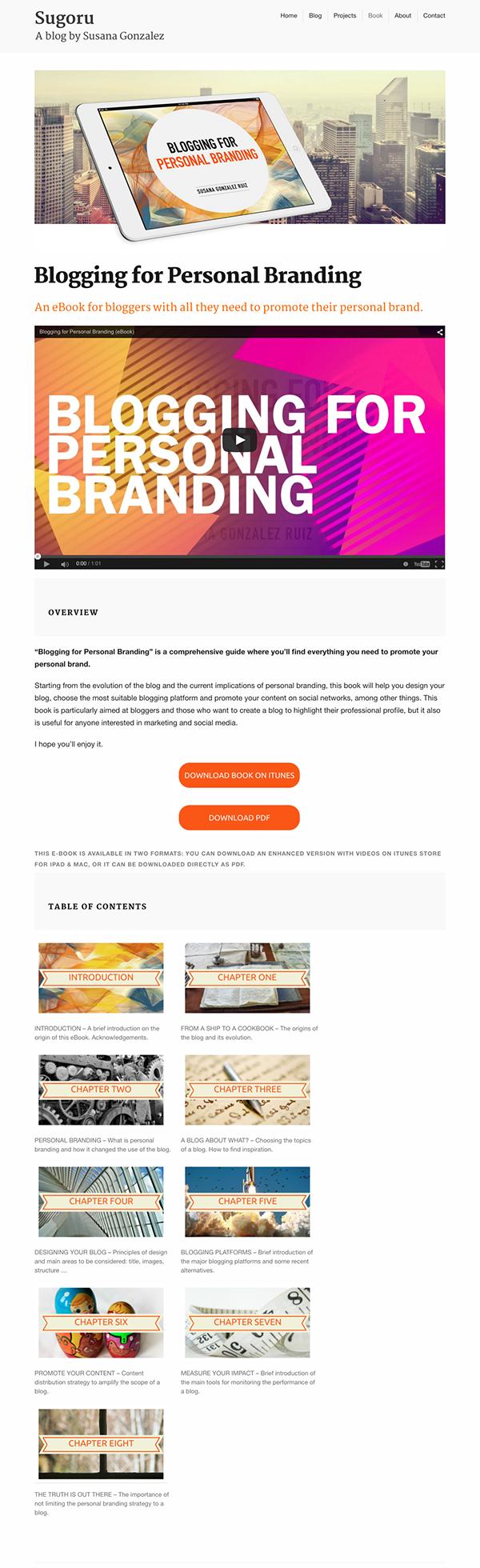 Blogging for Personal Branding (eBook) on Behance