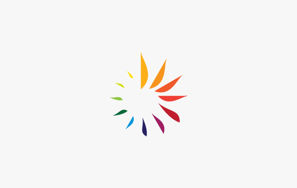 Sun Spiral red yellow orange blue green colorful spectrum temperature Thermo control air flower heat