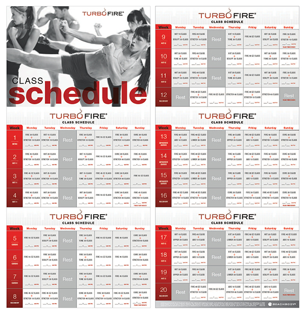 Turbo+Fire+Schedule Turbo Fire Schedule Printable | Calendar Template ...