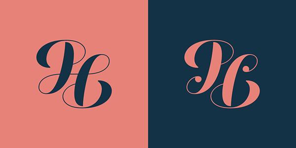 pl monogram ambigram logo Pedro Leal Typeface