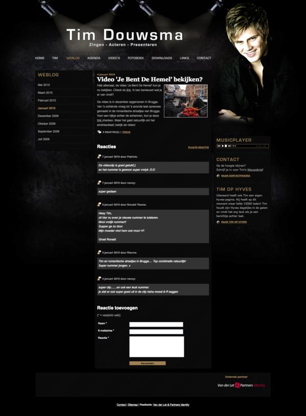 Tim Douwsma Webdesign HTML css jeroen rijpstra Van der Let & Partners Identity