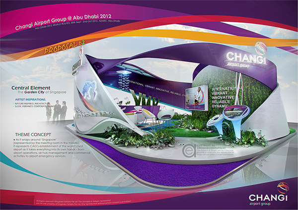 Exhibition Booth Design Singapore : Exhibition design special booth on behance