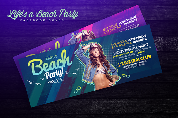 6cd36d502c Life's a Beach Party | Facebook Cover on Behance