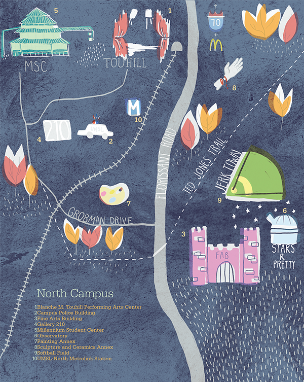 Umsl North Campus Map On Behance