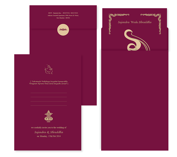 Wedding Card Design Sujendra Weds Shraddha On Behance