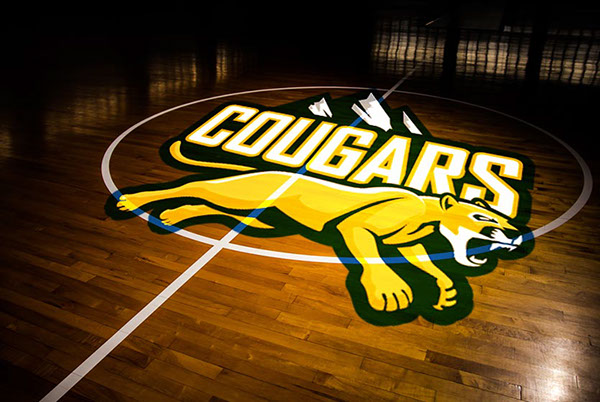 colorado christian university athletic logo on student show