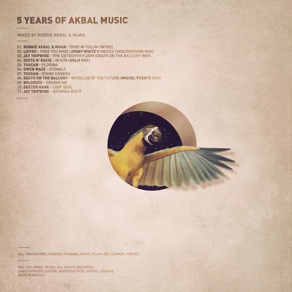 flyer akbal music Nature jungle nicolas lalli buenos aires collage vintage grunge