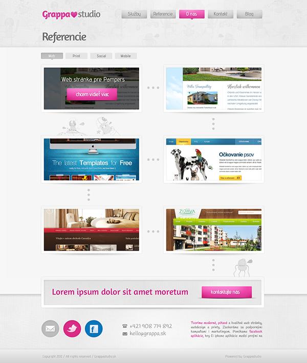 company Website Webdesign grappa My Company Digital Advertising pink design