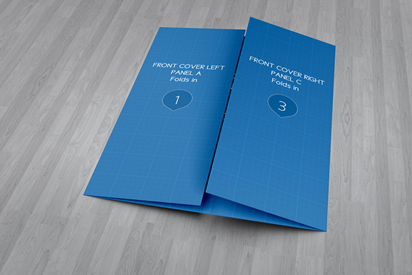 Elegant Show Your Brochure With Style! Create A Realistic Gate Fold Brochure Mock Up  In Few Seconds. These PSD Files Uses The Smart Object Feature, ... Ideas