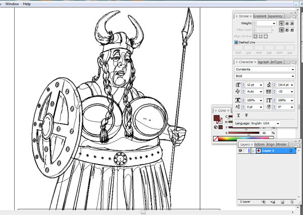 Character Design Jobs In Atlanta : Vector viking warrior princess on behance