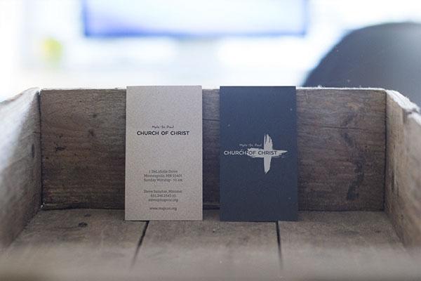 Minneapolis-Saint Paul Church of Christ visiting card
