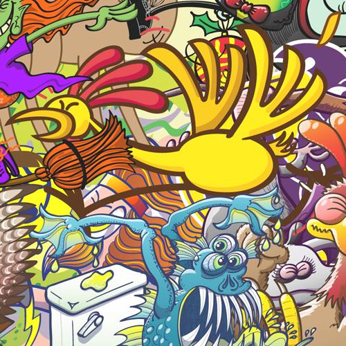 Chicken running in creatures festival