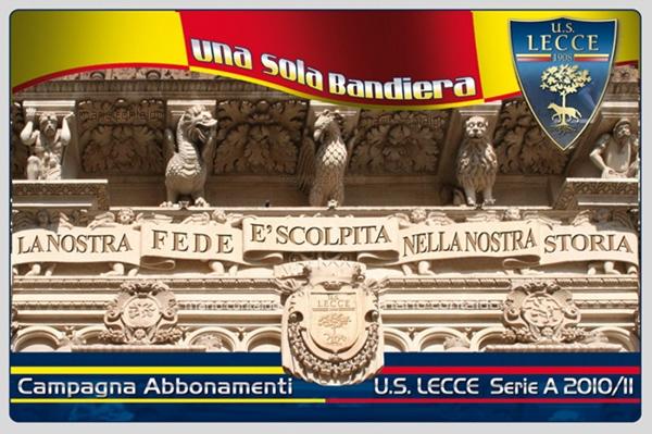 U.S. Lecce Campagna Abbonamenti season tickets Lecce salento