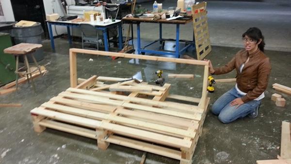 - Pallet Furniture Study - 1 : The Industrial Futon On Behance