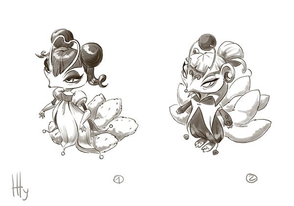Character Design Site : Elder mu and elder zhu character design on pantone canvas gallery