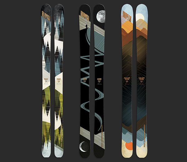 rocky mountain underground ski graphics on behance