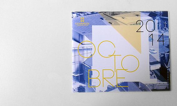 brochure color france belgium maubeuge Mons le manege cultural yellow blue White black Events