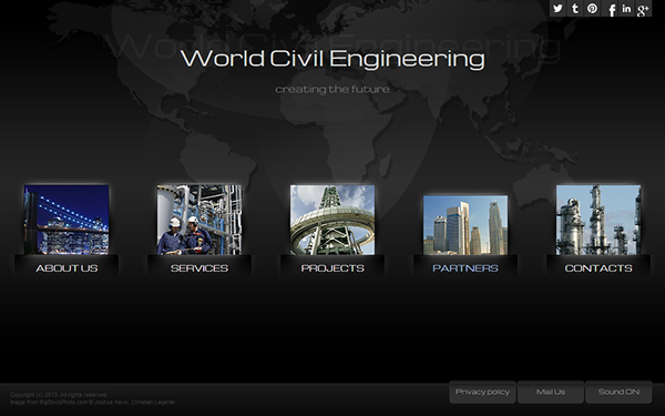 world civil engineering html5 template 300111665 on behance