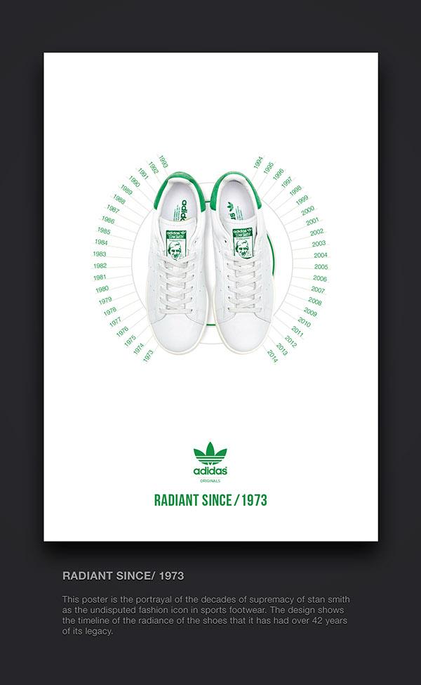 Adidas shoe poster on Behance