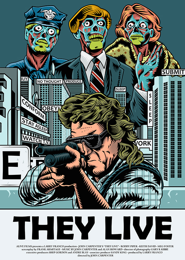 They Live 1988 Poster They Live (1988) - Mov...