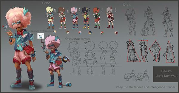 Professional Character Design Portfolio : Concept art portfolio on risd portfolios